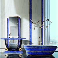 Tiffany Luxury Lapis Lazuli Crystal Bathtub - Robson Furniture
