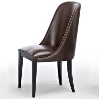 Flamingo Dark Brown Leather Dining Chairs - Robson Furniture