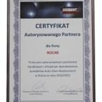 certyfikat Rocar dystrybutora Variant