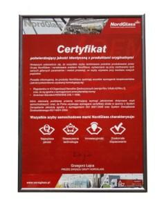 certyfikat Rocar Nordglass