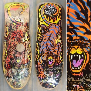 Santa cruz Salba Tiger skateboard restoration