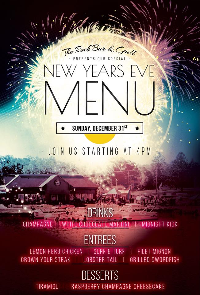 New Year\u0027s Eve at The Rock - Special NYE Menu Available - The Rock