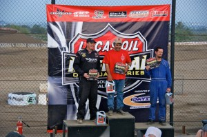 Sacalas Podium 300x199 Sacalas Claims Fastest Lap Time at Lucas Oil Short Course