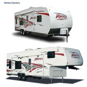 vortex exteriors 300x300 Introducing the Vortex Toy Hauler by MVP RV.