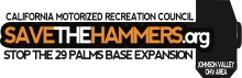 save the hammers.org  220x71 NO GRAIN OF SAND! BILL INTRODUCED INTO CONGRESS THAT WILL ESTABLISH JOHNSON VALLEY AS NATIONAL OHV AREA.