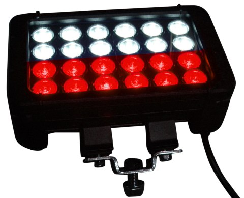 LEDLB 24 VISRED 1 480x389 New Dual Color LED Light Bar from Larson Electronics Provides White and Red Light Output
