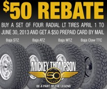 Rebate 300x250 lt tires 220x183 Buy Four LT Tires or Wheels, Get $50 Prepaid MasterCard