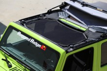 Eclipse Sun Shade Installed 220x146 RUGGED RIDGE ANNOUNCES NEW ECLIPSE SUN SHADE FOR '07 '13 JEEP JK WRANGLERS