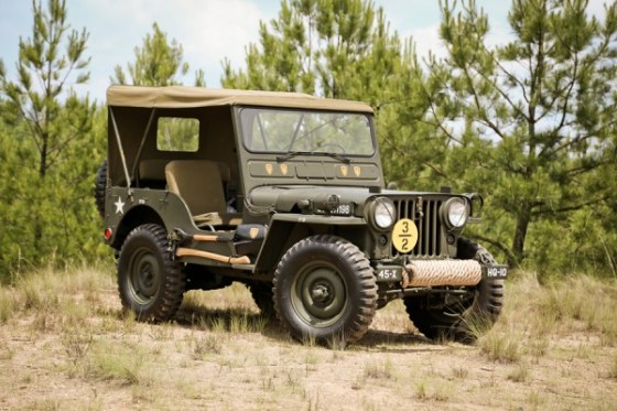 Omix-ADA 1951 Willys M38 - front 3q with wheels turned