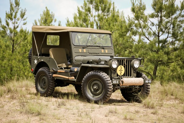 Omix ADA 1951 Willys M38 front 3q with wheels turned 600x400 OMIX ADA DEBUTS HISTORIC JEEP® COLLECTION AT 2013 SEMA SHOW