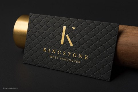 FREE silver foil business card template with print service - Buisness Card Template