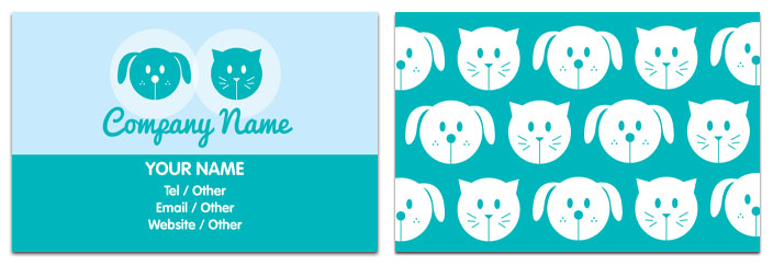 Pet Sitting Business Cards OxynuxOrg