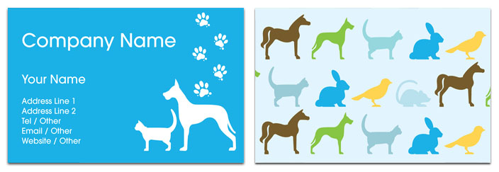 Veterinary Business Card Animal  Veterinary Rocket Cards