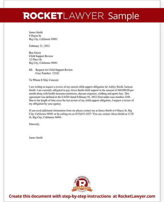 Cease And Desist Harassment Or Intimidation Example Child Support Review Letter Request Review With Sample