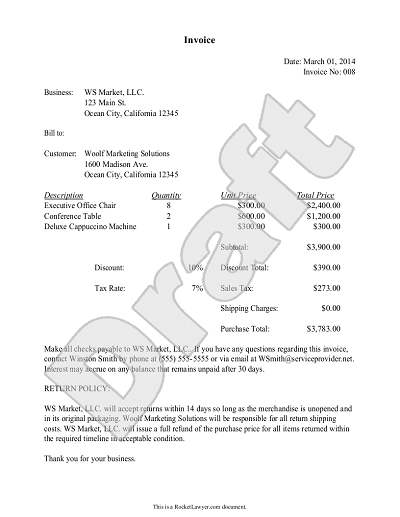 Sample Invoice Template Non Profit | How To Make A Resume Cover .