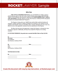 Bill of Sale Form - Free Template for Car, Boat ...