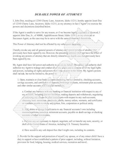 Sample Power of Attorney Form - Free Power of Attorney Letter Sample - Sample Of Power Of Attorney