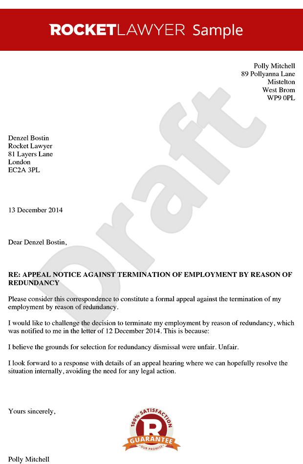 Formal legal letter