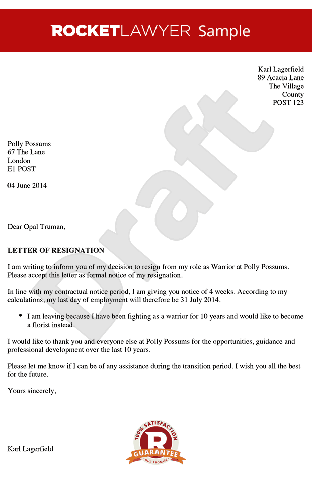 Sample Resignation Letter For Personal Or Family Reasons Resignation Letter Due To Family Problem
