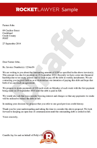 Letter Proposing for Payment in Instalments - Payment Plan ...