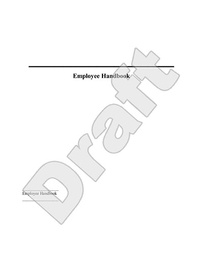 Employee Handbook Template - Handbook for Employees Sample - sample employee manual template