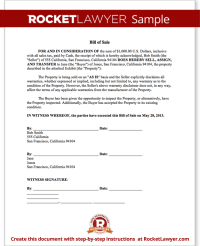 Bill of Sale Form - Printable Car & Vehicle Bill of Sale ...