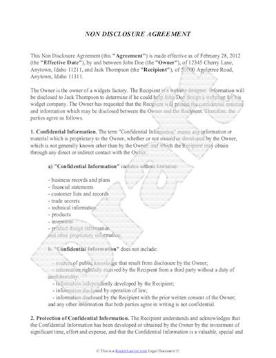 Standard Employment Agreement Template Employment Agreement Template Hr  Council Non Disclosure Agreement Template Free Sample Nda