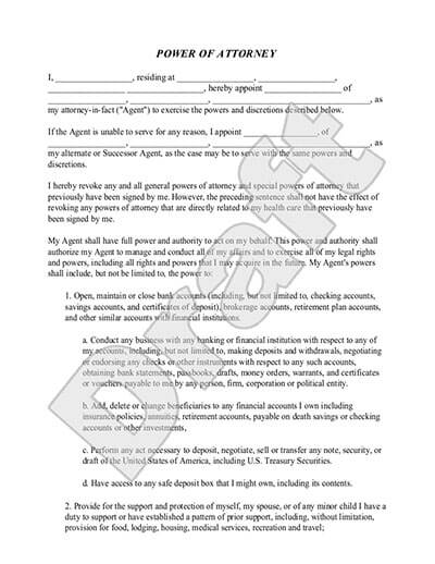 Power of Attorney Forms POA Templates Rocket Lawyer - Sample Of Power Of Attorney