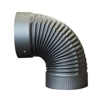 Black Single Wall Chimney Stove Pipe Inceaser/Reducer ...