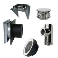 Through the Wall Insulated Chimney Pipe Kit by Rock-Vent