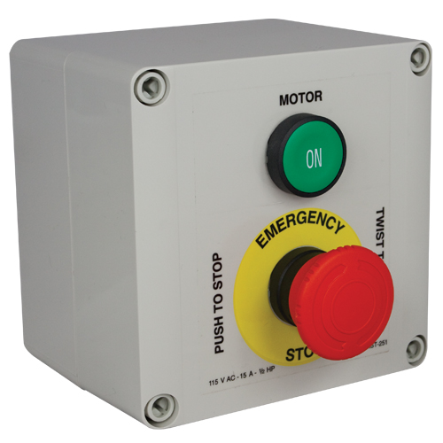 Single-Phase Starter With Self-Latching Emergency-Stop Button (CSF082)