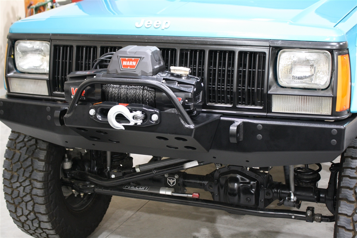 Rock Hard 4x4#8482; Bolt On Winch Plate with Fairlead Mount for