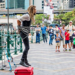 Performance in Cirqular quay, Sydney