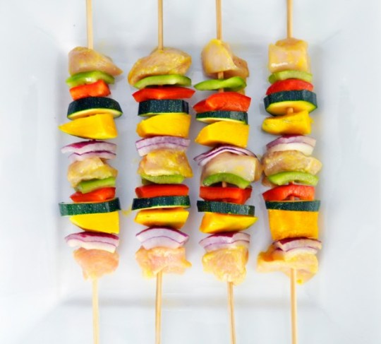 Mango Chicken Skewers Prep