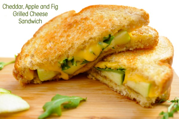 Cheddar, Apple and Fig Grilled Cheese Sandwich Recipe ...