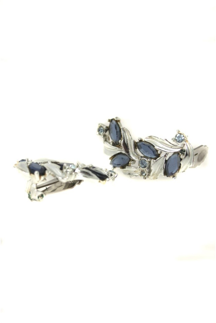 Vintage Sarah Coventry Blue Earrings