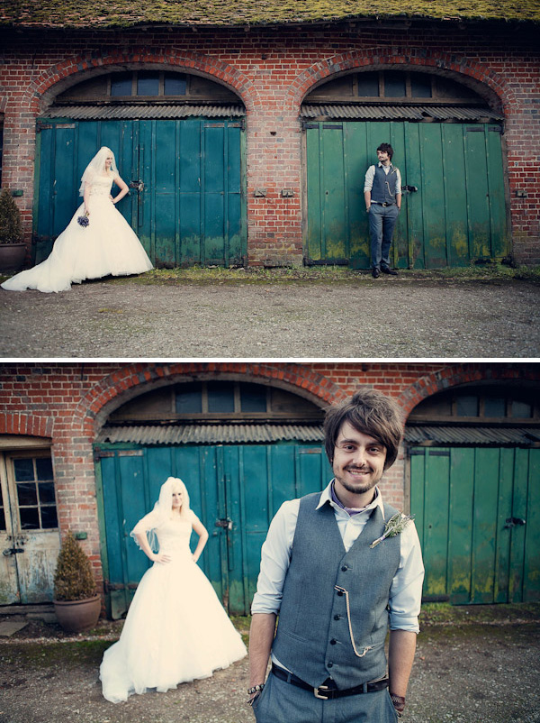 DIY backgarden quirky classic  A Groom With A View.