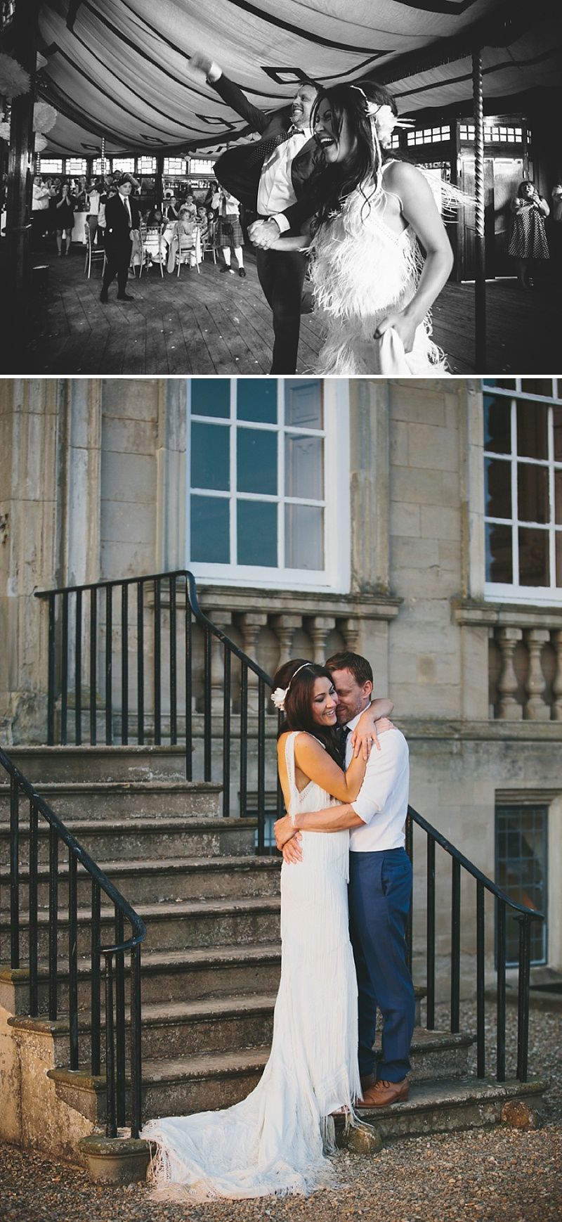 A Great Gatsby Woodstock themed wedding at Stanford Hall with a bridal gown from Blackburn Bridal Couture 0043 Woodstock Meets The Great Gatsby.