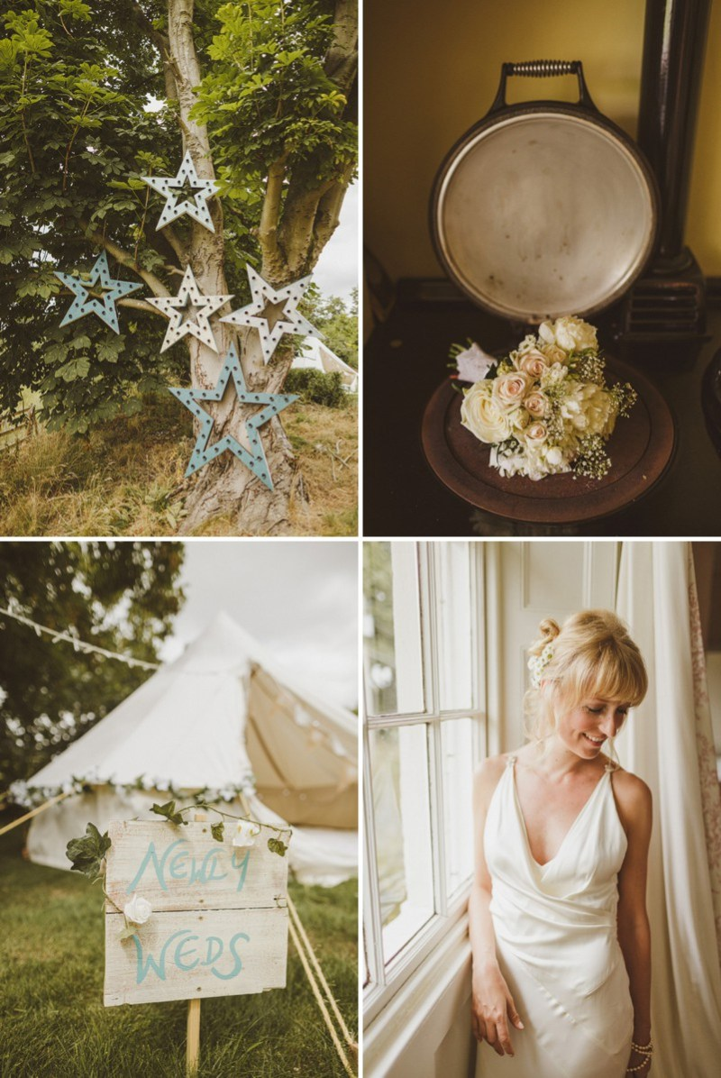An Epic DIY Bohemian Wedding At Ratfyn Farm With A Jenny Packham Dress And A Humanist Ceremony And A Peach Colour Scheme Photographed By Ed Peers. 0001 Disco Cages And Peach Flavoured Delights In Wiltshire.