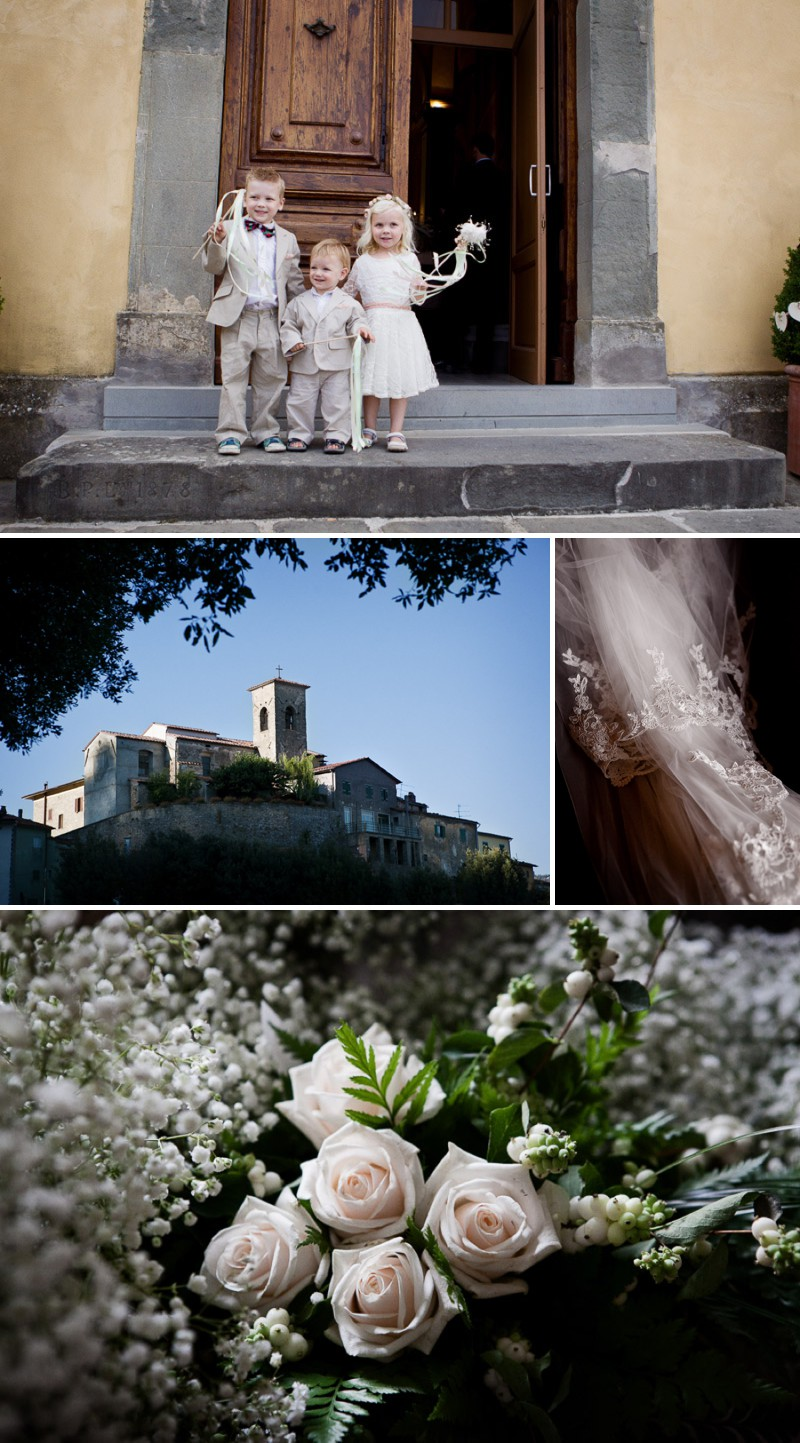 An Outdoor Italian Wedding Near Florence With A Charlie Brear Wedding Dress And A Handpicked Bouquet And Vintage Hair And Make up Photographed By Jack Ladenburg. 0001 A Terrific Tuscan Adventure.