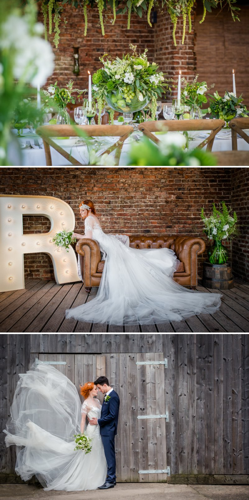 Rustic Glamour Inspired Shoot At York Maze With An Apple Green Colour Scheme Lots of Green Foliage And White Flowers With Images By Dominic Wright Photography 1 Rustic Glamour.