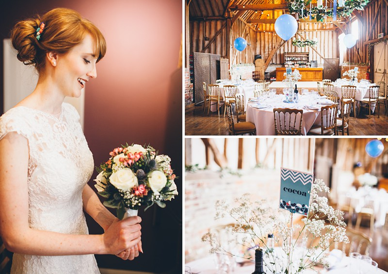A modern contemporary barn wedding with bright colour scheme Essence of Australia dress and reiss suit. Home made decorations and DIY elements. Photography by Lemonade Pictures 0001 Mr And Mrs Bean