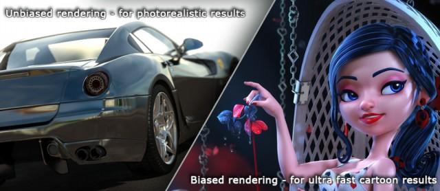 Unbiased-biased-FurryBall-renderer