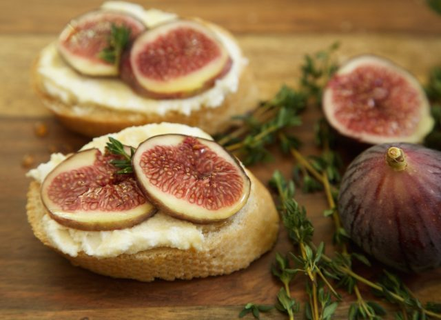 Aperetif: French baguette, ricotta cheese, figs, thyme, and honey. | Rockwell