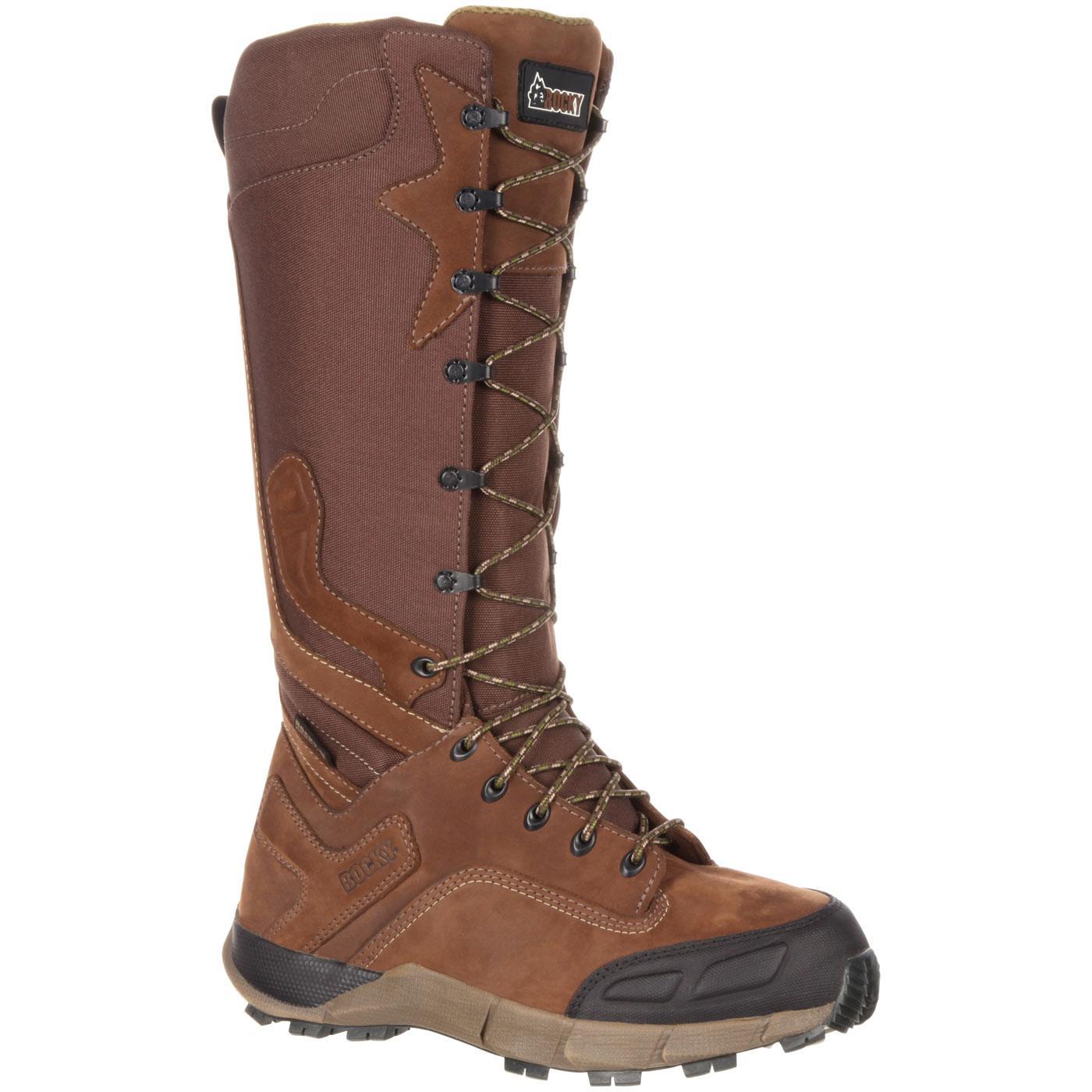 Rocky Broadhead Men39s Waterproof Side Zip Brown Snake Boot