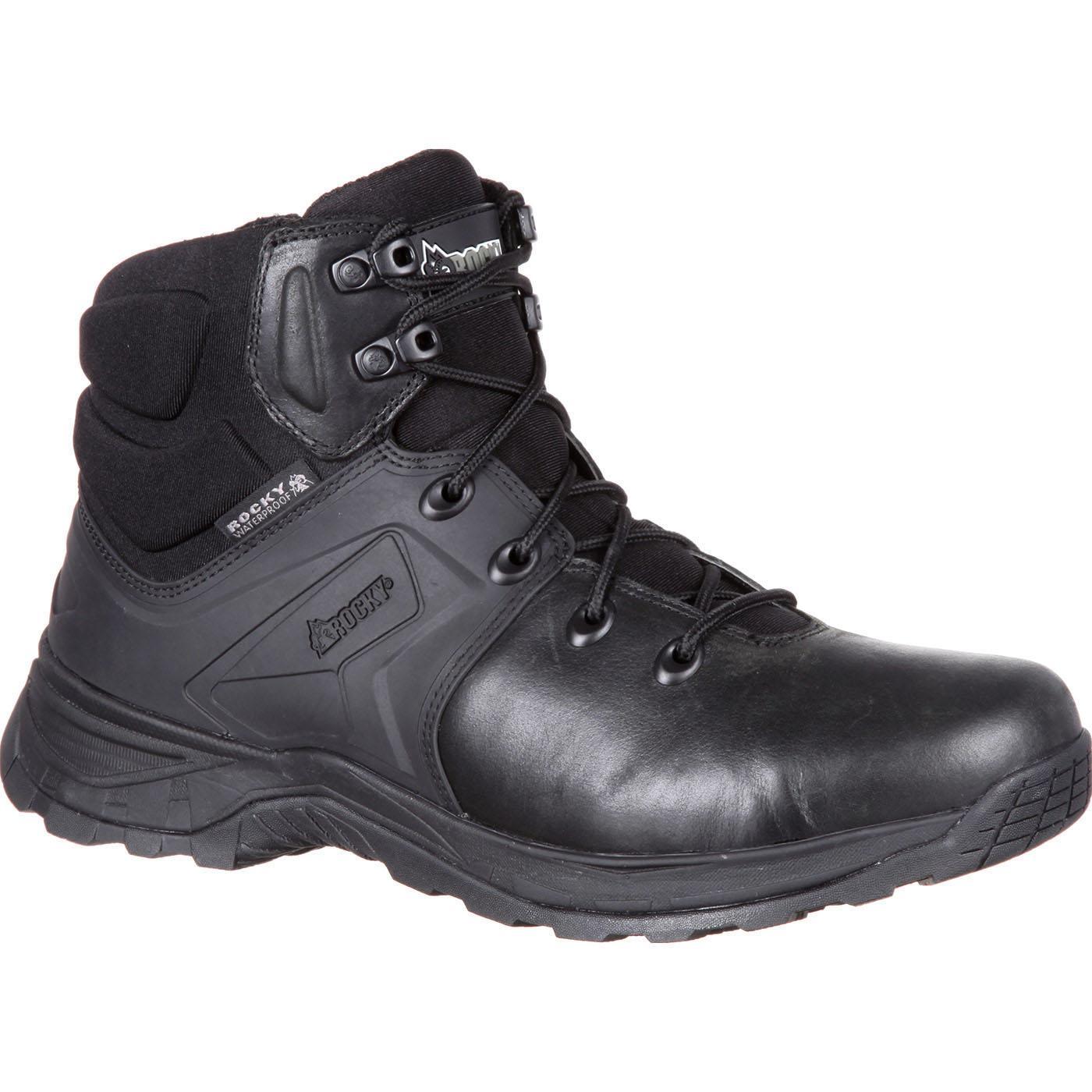 Rocky Alpha Tac Black 6quot Waterproof Duty Boot