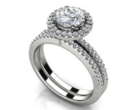 Eternal Dreams Round Diamond Wedding Ring Set - Roco's ...