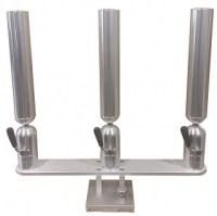 Cisco Triple Rod Holder on Quick Release Base 2/16 - PKTQR