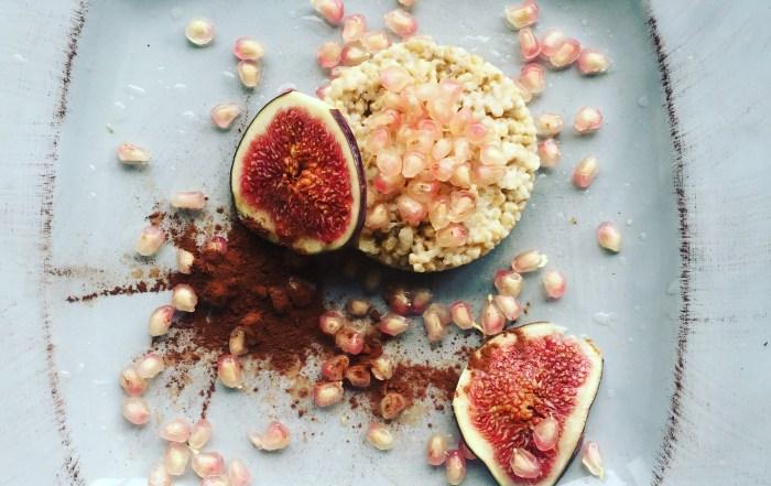 oatmeal met granaatappel