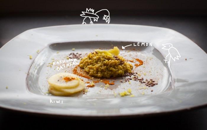 kurkuma oatmeal birds